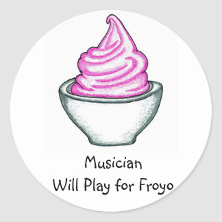 Musician Will Play for Froyo Sticker