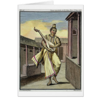 Musician with Indian Lute, from 'Voyage aux Indes Card