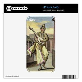 Musician with Indian Lute, from 'Voyage aux Indes Decal For iPhone 4