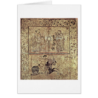 Musicians And Hunting Riders By Arab Painters Greeting Card
