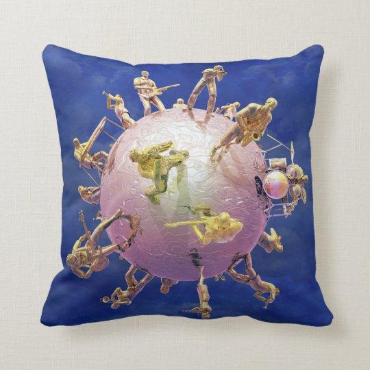 Musician's Ball Throw Pillow