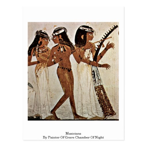 Musicians By Painter Of Grave Chamber Of Night Postcard