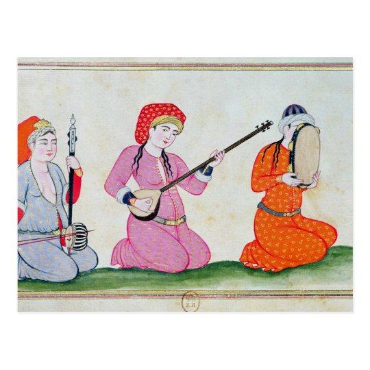 Musicians 'Costumes de la Cour et de la Postcard