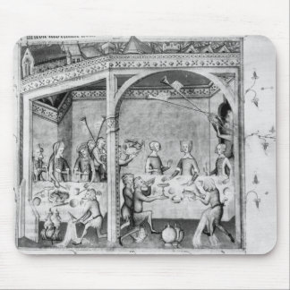 Musicians entertaining at a banquet mouse pad