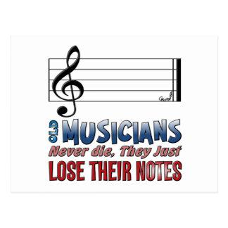 Musicians Epitaph #1 Postcard