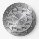 Musician's Essential Circle of Fifths Gear Large Clock