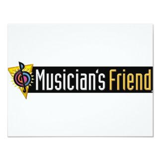 """Musician's Friend Swag 4.25"""" X 5.5"""" Invitation Card"""