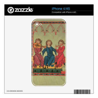 Musicians, from the Manasse Codex, a collection of Decals For The iPhone 4