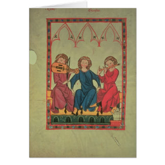 Musicians, from the Manasse Codex, a collection of Greeting Card