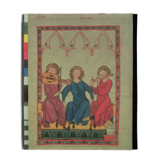 Musicians, from the Manasse Codex, a collection of iPad Cases