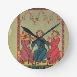 Musicians, from the Manasse Codex, a collection of Round Wall Clocks