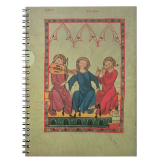 Musicians, from the Manasse Codex, a collection of Spiral Note Book