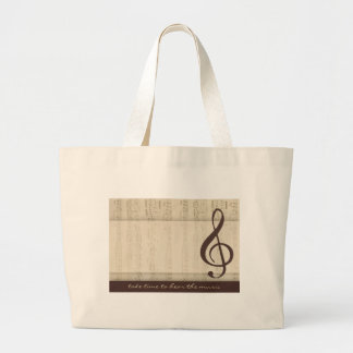 Musicians in love large tote bag