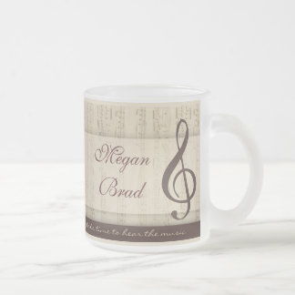 Musicians in love 10 oz frosted glass coffee mug