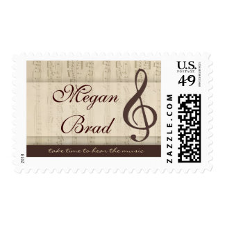 Musicians in love postage