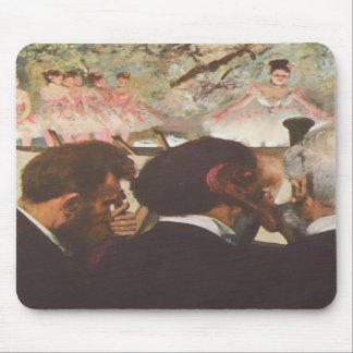 Musicians in the Orchestra by Edgar Degas Mousepad