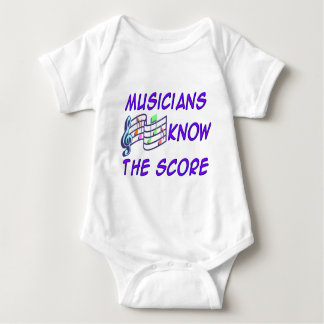 Musicians Know the Score Baby Bodysuit