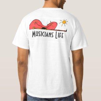 Musicians Life Tropical Guitar T-Shirt