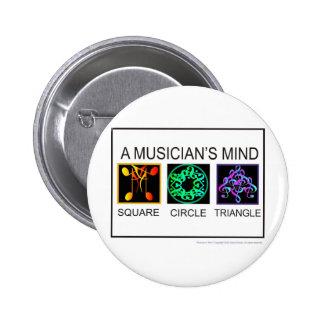musicians mind 2 inch round button