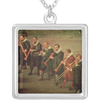 Musicians Square Pendant Necklace