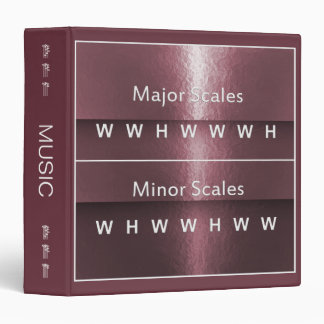 Musician's Note Intervals for Major & Minor Scales 3 Ring Binder