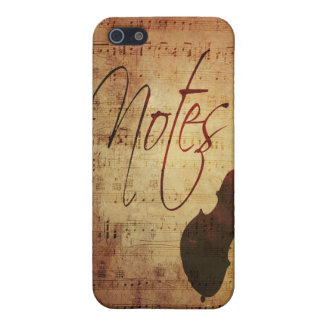 Musicians Notes Antique Musical Score with Strings Cover For iPhone SE/5/5s