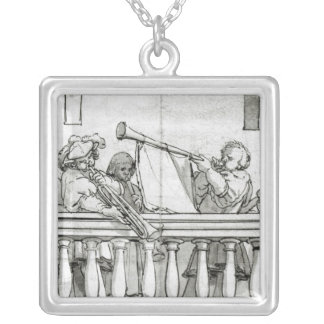 Musicians of Henry VIII Silver Plated Necklace