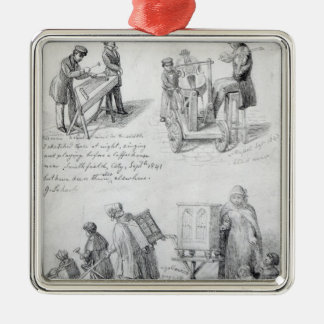 Musicians on the streets of London, 1841-43 Metal Ornament