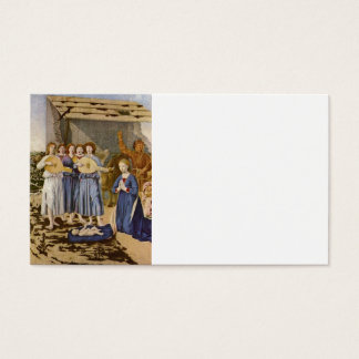 Musicians Play Mandolins for Baby Jesus Business Card