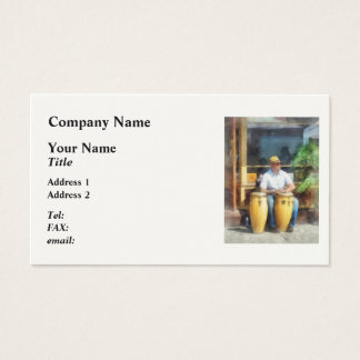 Musicians - Playing Bongo Drums Business Card