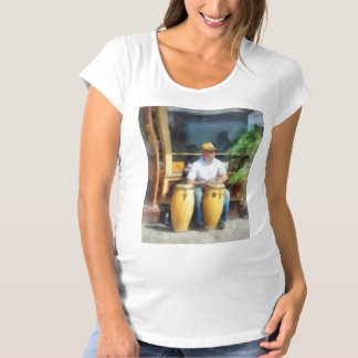 Musicians - Playing Bongo Drums Maternity T-Shirt