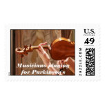 Musicians Playing for Parkinson's Postage Stamp