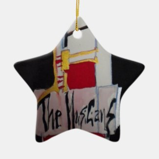 Musicians Premium Square Christmas Ornament