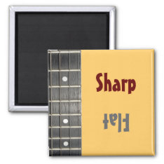 Musicians Sharp Flat Mood Magnet at Zazzle