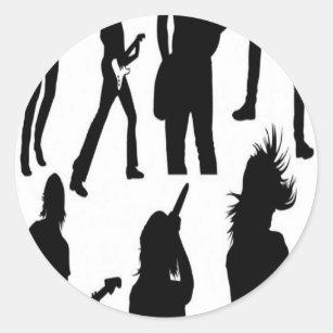 musician silhouette stickers zazzle