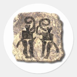 Musicians-stone Round Stickers
