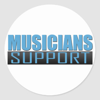 Musicians Support logo Classic Round Sticker