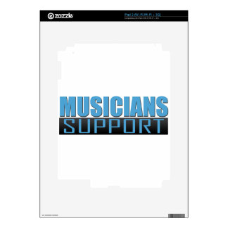 Musicians Support logo Decal For The iPad 2