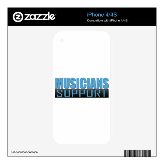 Musicians Support logo Decal For The iPhone 4S