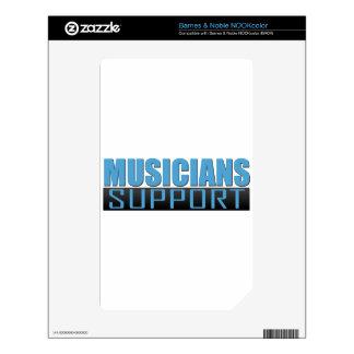 Musicians Support logo NOOK Color Skin