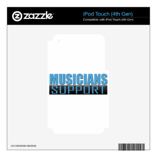 Musicians Support logo iPod Touch 4G Decals