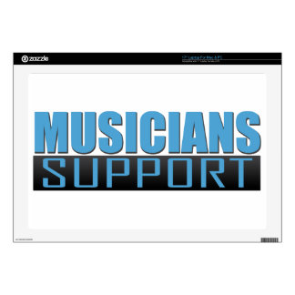 """Musicians Support logo Decals For 17"""" Laptops"""