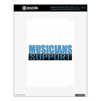 Musicians Support logo Decals For The NOOK