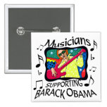 Musicians Supporting Barack Obama Pinback Buttons