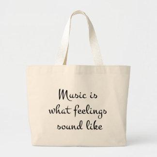 musicIsWhatFeelingsSoundLike Bolsa Tela Grande