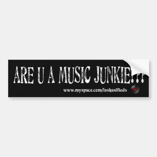 musicjunkie bumper sticker
