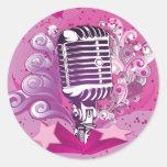 musicmic classic round sticker