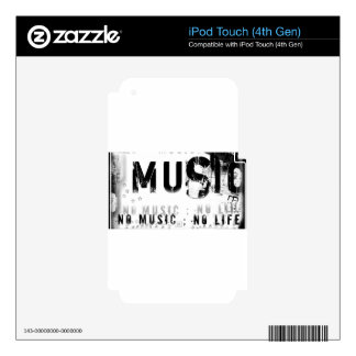 Musicnolife iPod Touch 4G Skin
