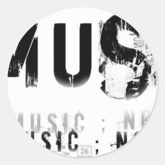 Musicnolife Classic Round Sticker