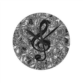 musicnote clef clock